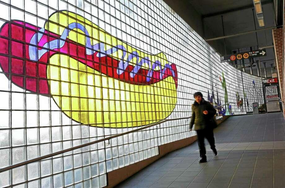 BROOKLYN, NY - NOVEMBER 30: My Coney Island Baby image by Robert Wilson, seen at the Coney Island-Stillwell Avenue D train station in Brooklyn, NY, on November 30, 2015. Photo: Photo By Yana Paskova/For The Washington Post / Yana Paskova
