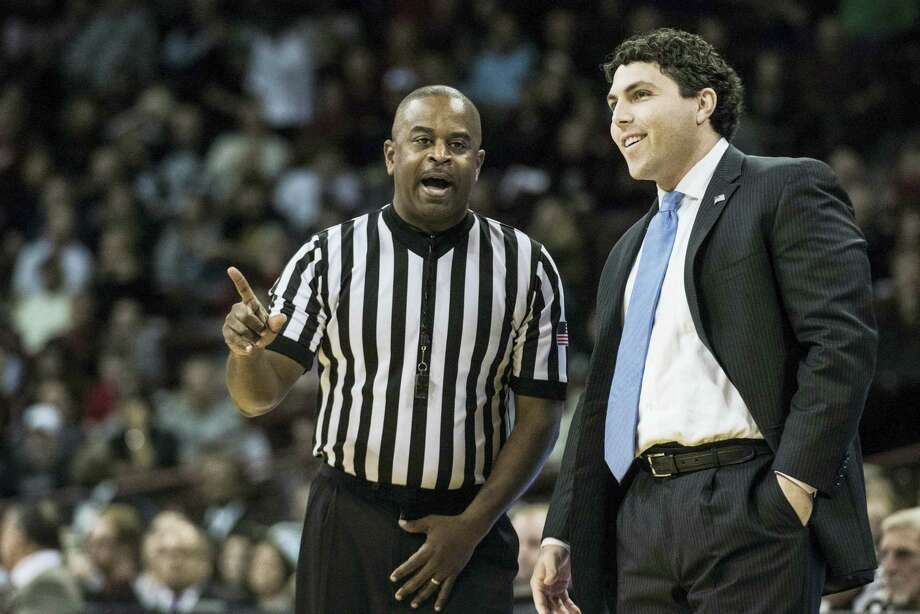 Memphis coach John Pastner talks with a referee during a game earlier this season. Photo: The Associated Press File Photo   / FR171415 AP