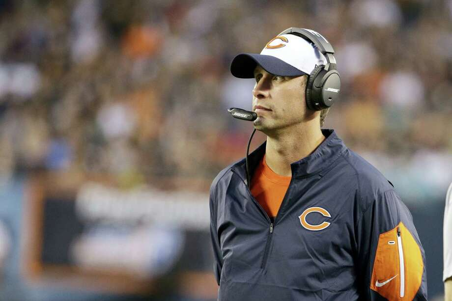 FILE - In this Aug. 13, 2015, file photo, Chicago Bears offensive coordinator Adam Gase during the first half of an NFL preseason football game against the Miami Dolphins in Chicago. Chip Kelly, Gase and Mike Shanahan are just a few of the hot names for teams looking for a new head coach. (AP Photo/Nam Y. Huh, File) Photo: AP / AP