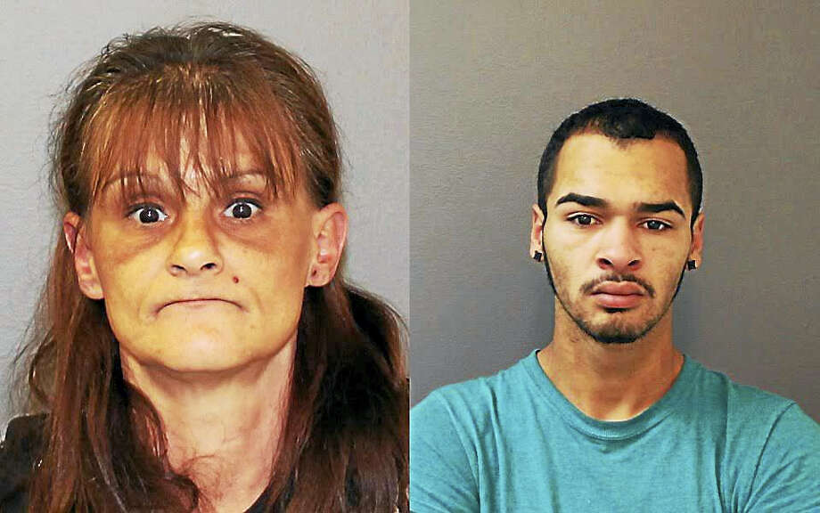 Left to right: Kari Franco and Joshua Roman Photo: SHELTON POLICE DEPARTMENT