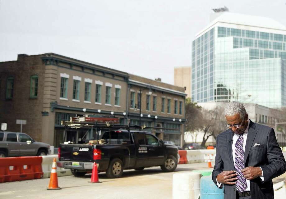 "Birmingham, Ala., Mayor William Bell talks to the Associated Press, Thursday, Jan. 7, 2016, in Birmingham. Bell says Alabama Chief Justice Roy Moore's order to state probate judges not to issue marriage licenses to same-sex couples is ""a black eye on the state."" Moore stood firm Thursday in his position that the state's probate judges should not issue marriage licenses to gay couples, a stance he insisted is not in defiance of the U.S. Supreme Court ruling last summer that effectively legalized gay marriage nationwide. Photo: AP Photo/Brynn Anderson    / AP"