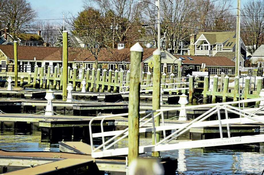 The Guilford Marina with the former Stone House restaurant, rear, at the end of Whitfield Street in Guilford. Photo: Peter Hvizdak — New Haven Register FILE PHOTO   / ©2016 Peter Hvizdak