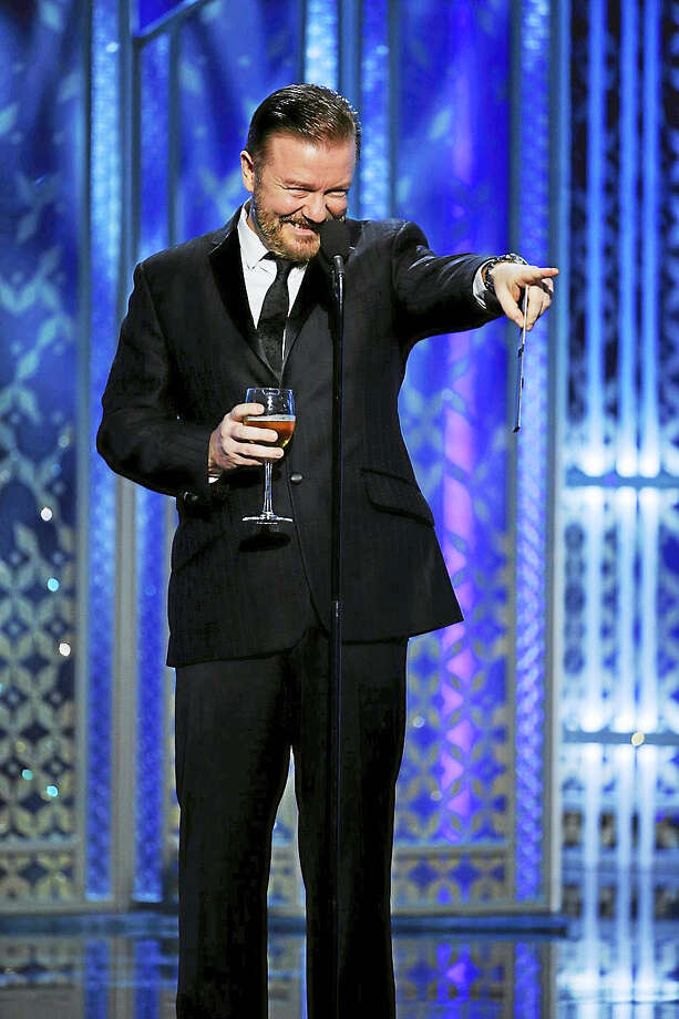 No one knows how to make a star or studio exec squirm in front of a national audience quite like Ricky Gervais. Photo: Paul Drinkwater - NBC, AP File    / NBC