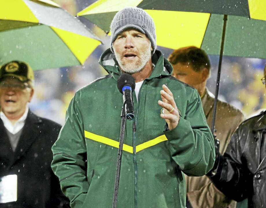 Brett Favre is among three first-time eligibles to make the list of 15 finalists for election to the Pro Football Hall of Fame. Photo: The Associated Press File Photo   / FR155603 AP