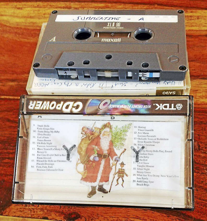 A sample from Randall Beach's vast collection of cassettes. Photo: Randall Beach — New Haven Register