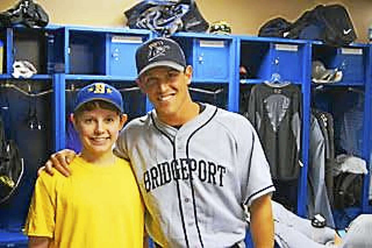 Jared Schwartz, left, poses for a photo with Adam Greenberg.