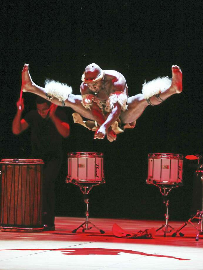 A moment from Step Afrika! coming to the Mellon Center Friday evening. Photo: Contributed