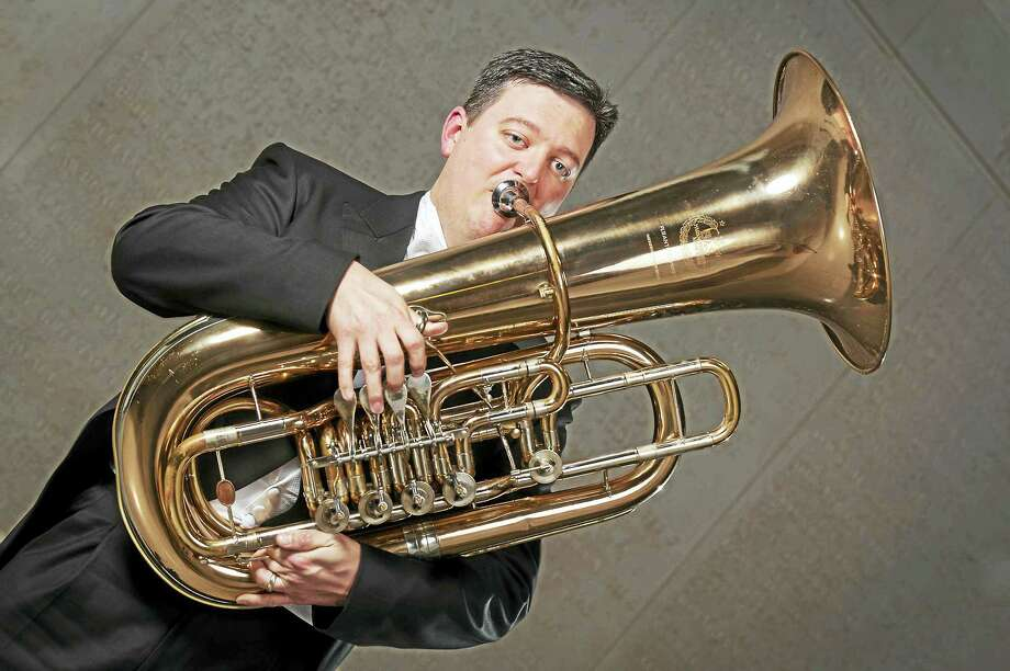 """Tuba player Adam Crowe will be featured in """"Tubby the Tuba."""" Photo: Joe Crawford   / Photo: ? Joe Crawford. You may tag friends, or share this photo, but do not crop or alter it in any way. Thank you."""