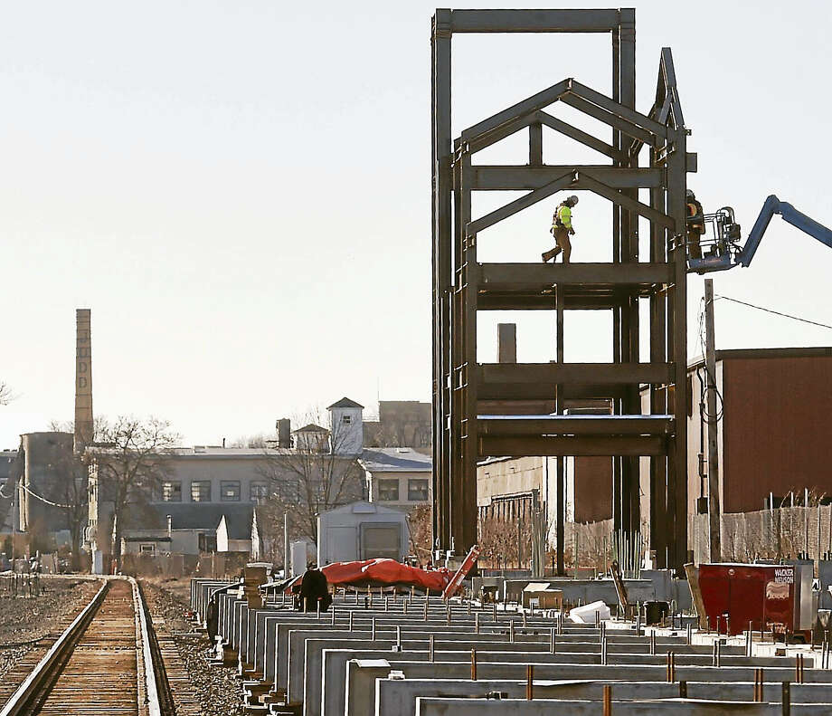 Construction of the Wallingford Rail station on Parker Street by North Cherry Street in Wallingford Tuesday. Photo: Peter Hvizdak — New Haven Register   / ©2016 Peter Hvizdak