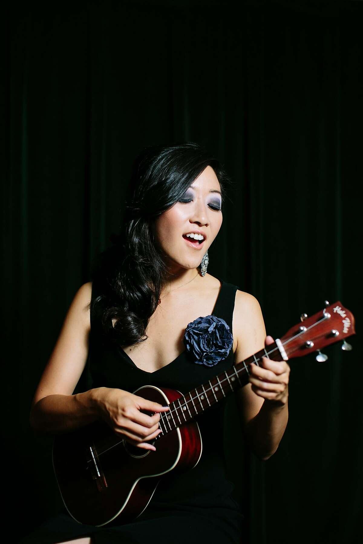 Youtuber and ukulele star Cynthia Lin co-hosts the SF Uke Jam.