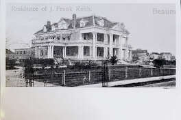 The J. Frank Keith House, which was the mansion lived in by the Keith family, who were the owners of the pre-Spindletop established Keith Lumber Company, was located in the 2200 block of Calder Avenue in Beaumont. Among its many amenities was the first residential swimming pool in Beaumont and its parlor held performances by a local theater ensemble. The home was demolished in 1949. Photo courtesy of Tyrrell Historical Library, (Beaumont, Texas) the Gilbert Papers, MS 159