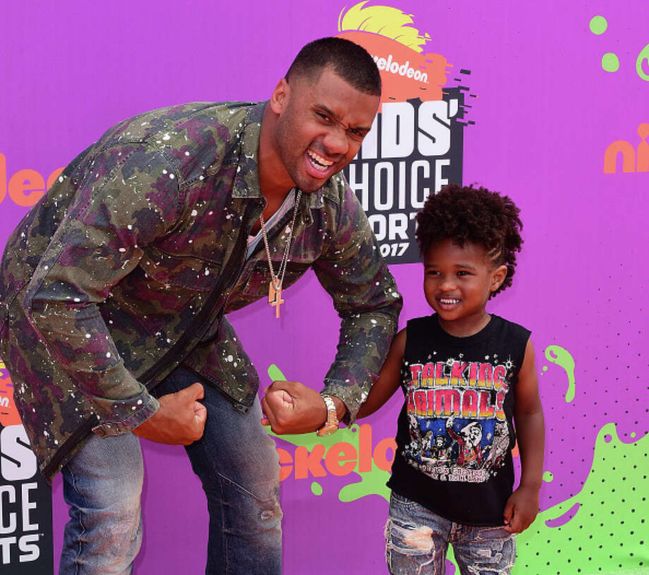LOS ANGELES, CA - JULY 13:  Host Russell Wilson (L) and Future Zahir Wilburn attend Nickelodeon Kids' Choice Sports Awards 2017 at Pauley Pavilion on July 13, 2017 in Los Angeles, California.  (Photo by C Flanigan/Getty Images) Photo: C Flanigan/Getty Images