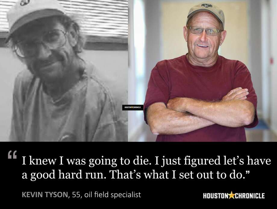 Left: Robert Orosco on the day he attempted to kill himself. ( Robert Orosco . Right: Robert Orosco on the day he attempted to kill himself. ( Robert Orosco ) Photo: Steve Gonzales / Houston Chronicle, Handouts