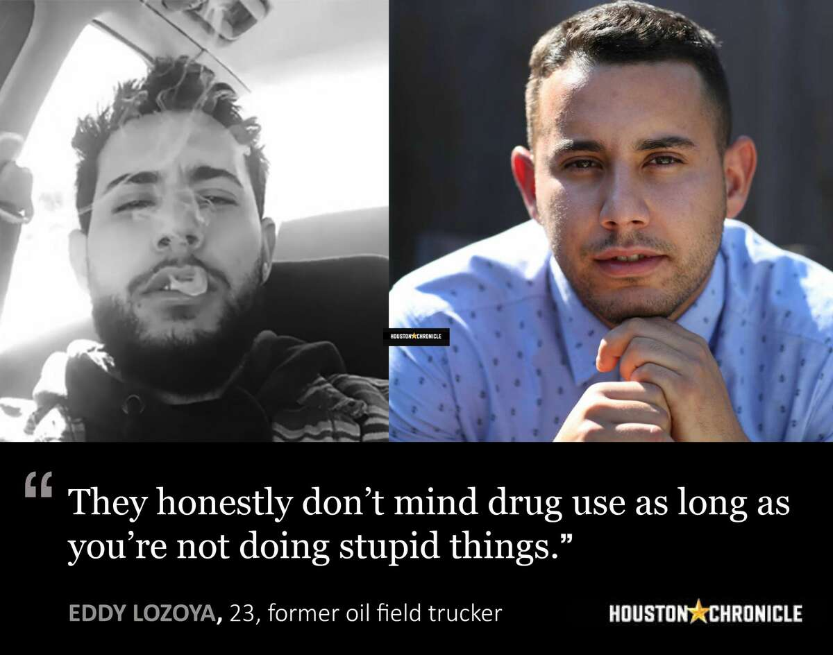 Left: Eddy Lozoya during his drug use days. (photo by Eddy Lozoya). Right: Eddie Lozoya talks about his drug and alcohol abuse and rehab at The Springboard Center Thursday, June 29, 2017, in Midland. ( Steve Gonzales / Houston Chronicle )