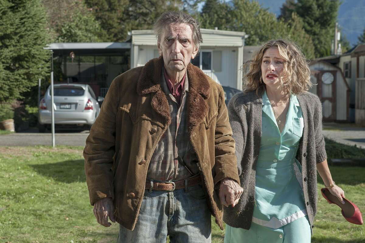 """Harry Dean Stanton and Madchen Amick in a scene from """"Part 11"""" of """"Twin Peaks: The Return."""""""