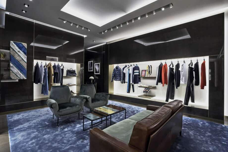 The Italian fashion house Fendi has opened a boutique at 195 Grant Ave., in part of the former Prada space. The two-story space carries men's (pictured) and women's ready-to-wear, fur, handbags, shoes and accessories, and fashion collections designed by Karl Lagerfeld and Silvia Venturini Fendi. Photo: FENDI