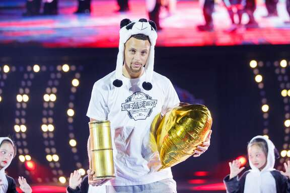 NBA player Stephen Curry attends a commercial event on July 23, 2017 in Chengdu, Sichuan Province of China.  (Photo by VCG/VCG via Getty Images)