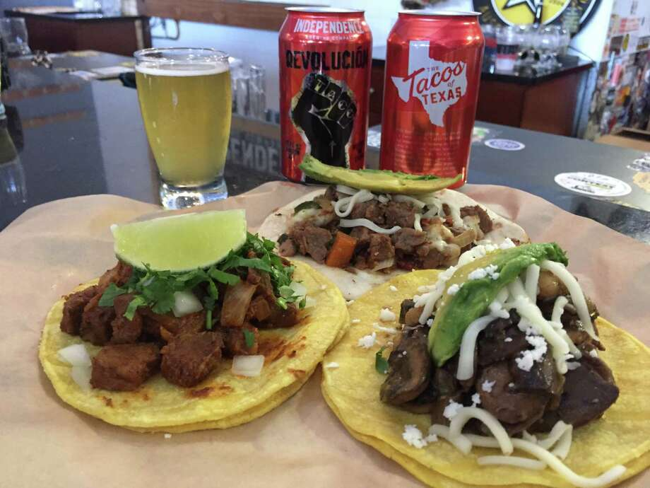 Independence Brewing has launched Revolucié³n Saison Ale, a beer meant to pair well with tacos. Photo: Independence Brewing Company