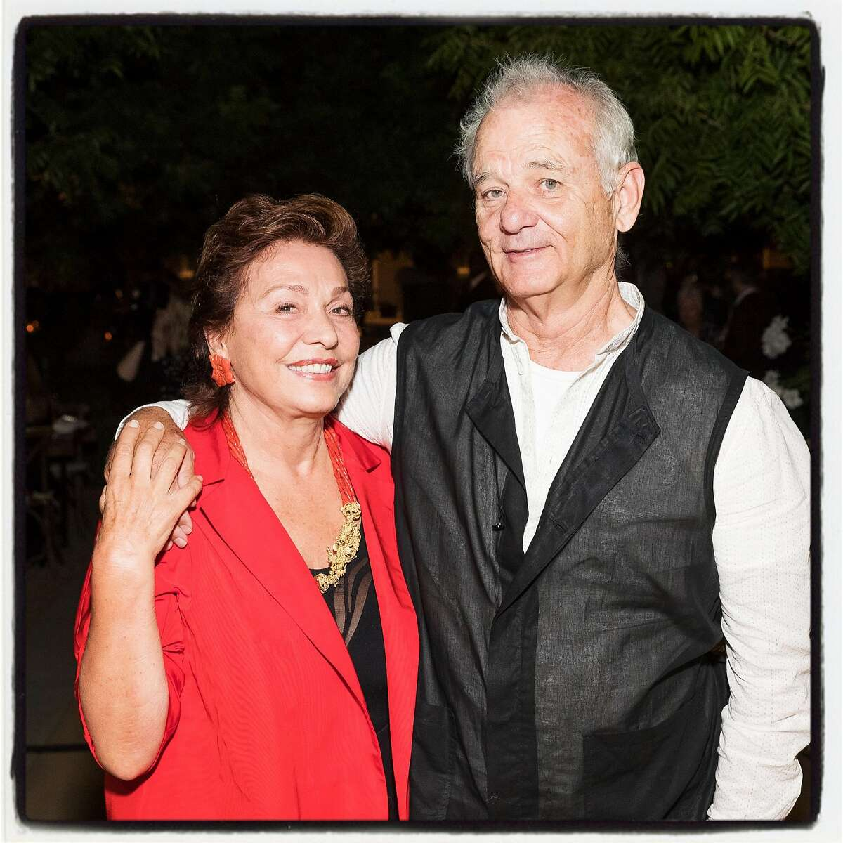 Maria Manetti Shrem and Bill Murray at Trinchero for a Festival Napa Valley Patron Dinner. July 20th, 2017.