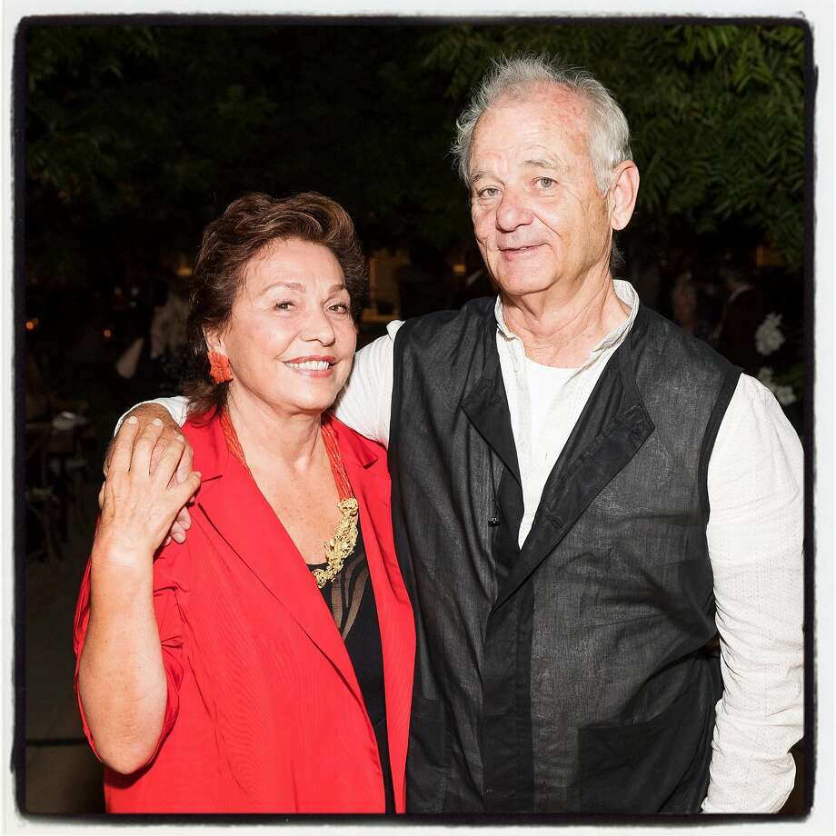 Maria Manetti Shrem and Bill Murray at Trinchero for a Festival Napa Valley Patron Dinner. July 20th, 2017. Photo: Drew Altizer