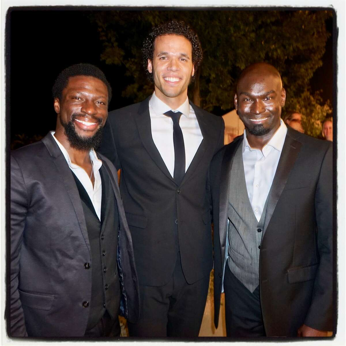 Hamilton cast members (from left) Michael Luwoye, Jordan Donica and Isaiah Johnson at the Arts for all Gala. July 16, 2017.