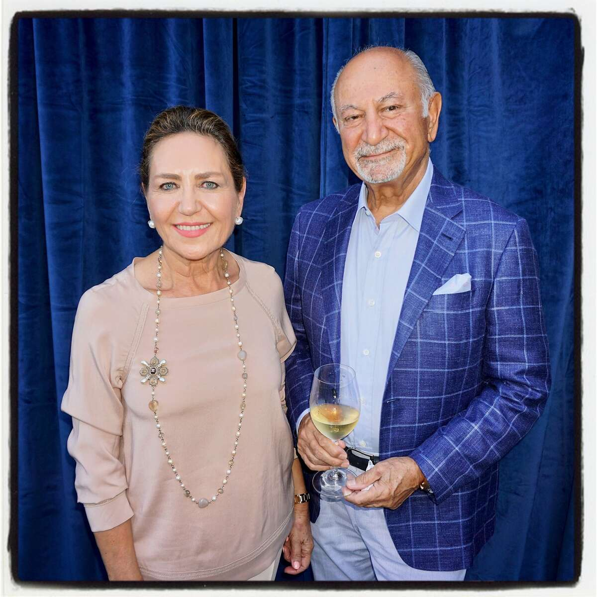 Festival Napa Valley honorees Shahpar and Darioush Khaledi at Blue Note in Napa. July 18, 2017.