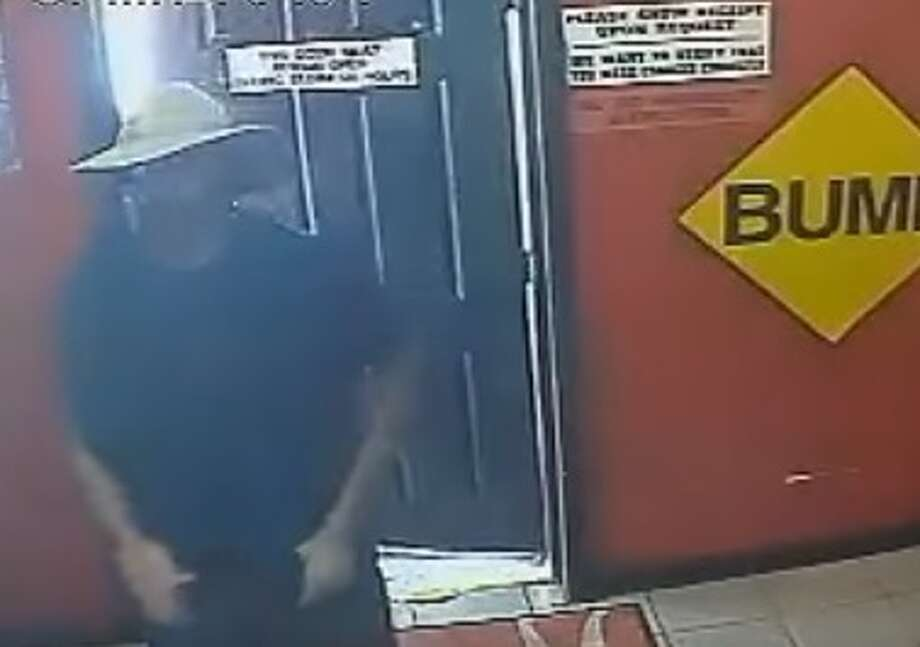 This suspect allegedly robbed the 420 Smoke Shop at 12300 Hempstead twice in June. Photo: Houston Police Department