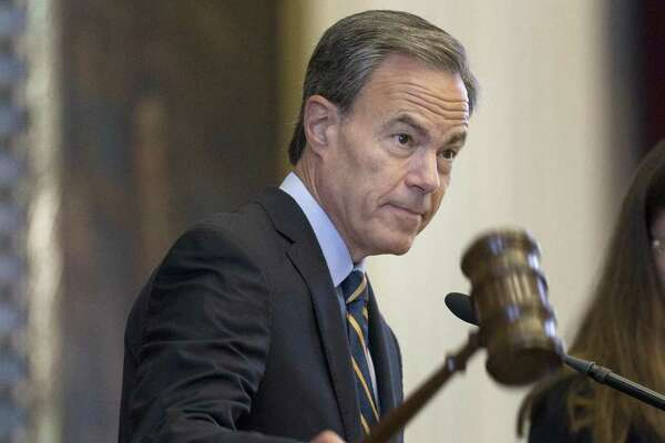 Texas Speaker of the House Joe Straus, R-San Antonio, presides over the Texas House of Representatives during the special session. The House adjourned Sunday night without reaching agreement on competing school finance bills and will reconvene Monday afternoon.