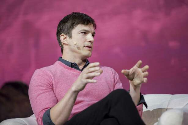 File photo of Ashton Kutcher speaking at a panel during the Airbnb Open Spotlight at The Orpheum Theatre in Los Angeles earlier this month. Kutcher has a net worth of $200 million and invests in Casper, a bed-in-a-box company.
