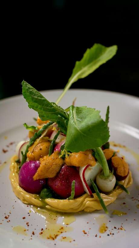 Uni and radishes at Acacia House in St. Helena. Photo: John Storey, Special To The Chronicle