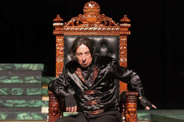 "University of Houston's Jack Young stars as the titular character during the Houston Shakespeare Festival production of ""Richard III."""