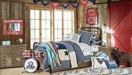 The Junk Gypsies, sisters Aimie and Jolie Sikes, teamed with Pottery Barn Kids to create a new bedding collection for our youngest free spirits.