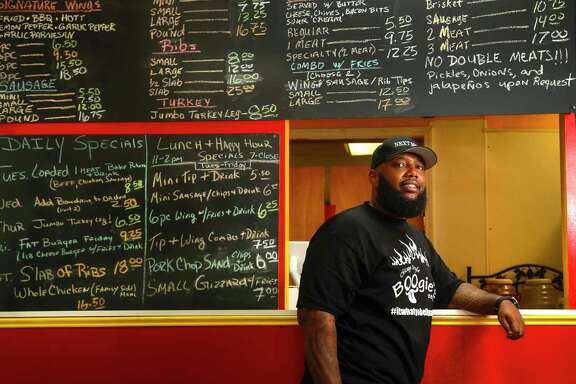 Lamonte Waits, owner of Boogie's BBQ in Missouri City, Friday, July, 21, 2017.  Waits was one of the survey respondents for a study conducted by researchers of Texas Southern University. The aim of the study was to identify how the Greater Houston Black Chamber could provide entrepreneurs like Waits with resources in what is largely a bedroom community in Fort Bend County. ( Karen Warren / Houston Chronicle )