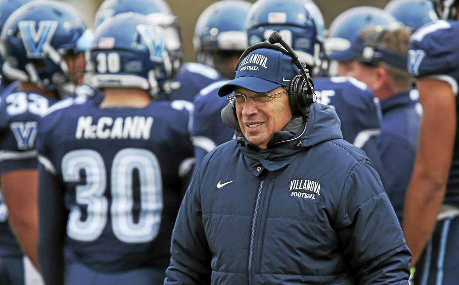 Former SCSU defensive back and current Villanova head coach Andy Talley will lead the Wildcats against UConn on Thursday at Rentschler Field. Photo: The Associated Press File Photo   / FR170723 AP