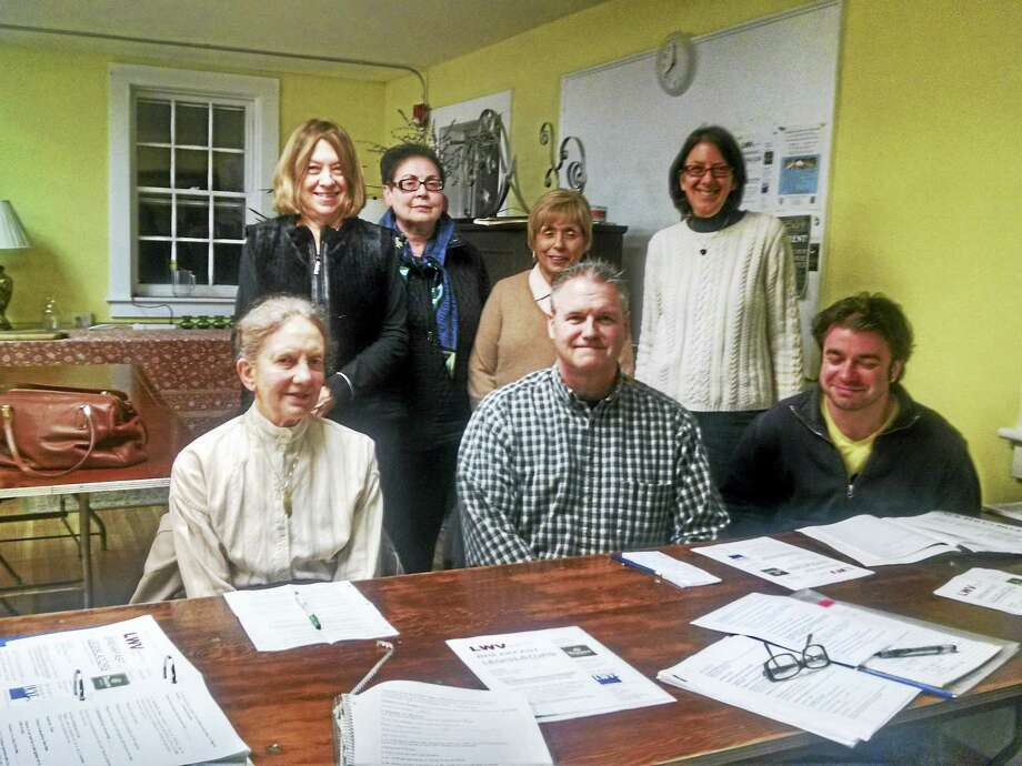 (Contributed photo) The planning committee seated at the the table are, from l to r, Nancy Beals, Jim Redman, Robert Sheiman.  Standing behind them, left to right are: Jane Shaw, Christine Esposito, Raeanne Curtis, Diane Hoffman Photo: Journal Register Co.