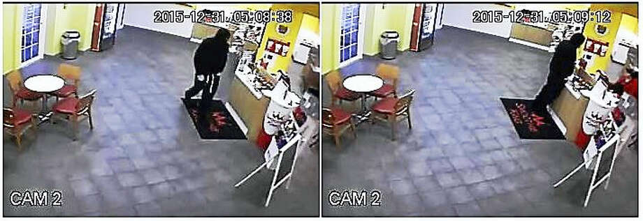 Police in Orange are looking for a masked man who allegedly held up the Smoothie King store Wednesday afternoon. Photo: Photo Courtesy Of The Orange Police Department