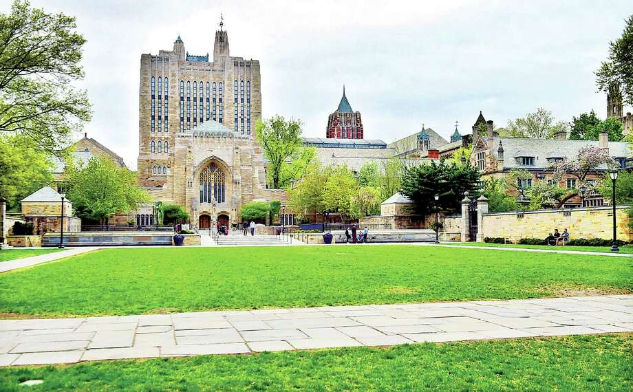 File photo: The Sterling Memorial Library at Yale University. Photo: (Catherine Avalone/New Haven Register) / New Haven RegisterThe Middletown Press