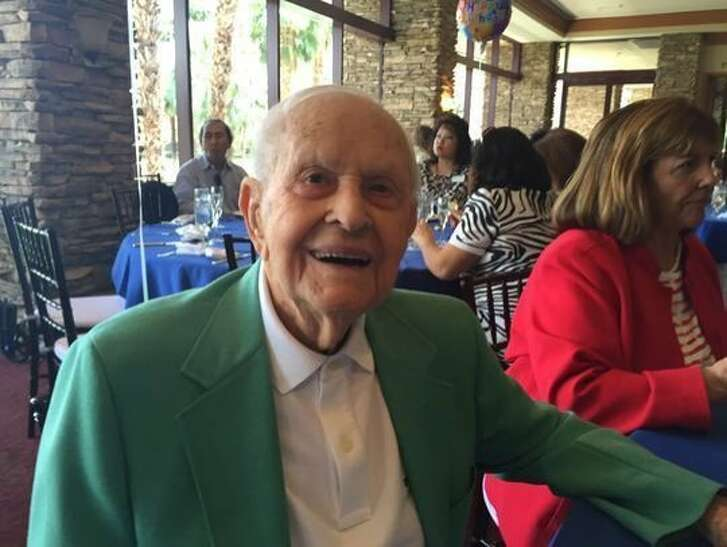 """This undated photo shows Clarence """"Larry"""" Matthews who was born on May 1, 1906. Matthews died on July 22, 2017. (Denise Goolsby/The Desert Sun via AP)"""
