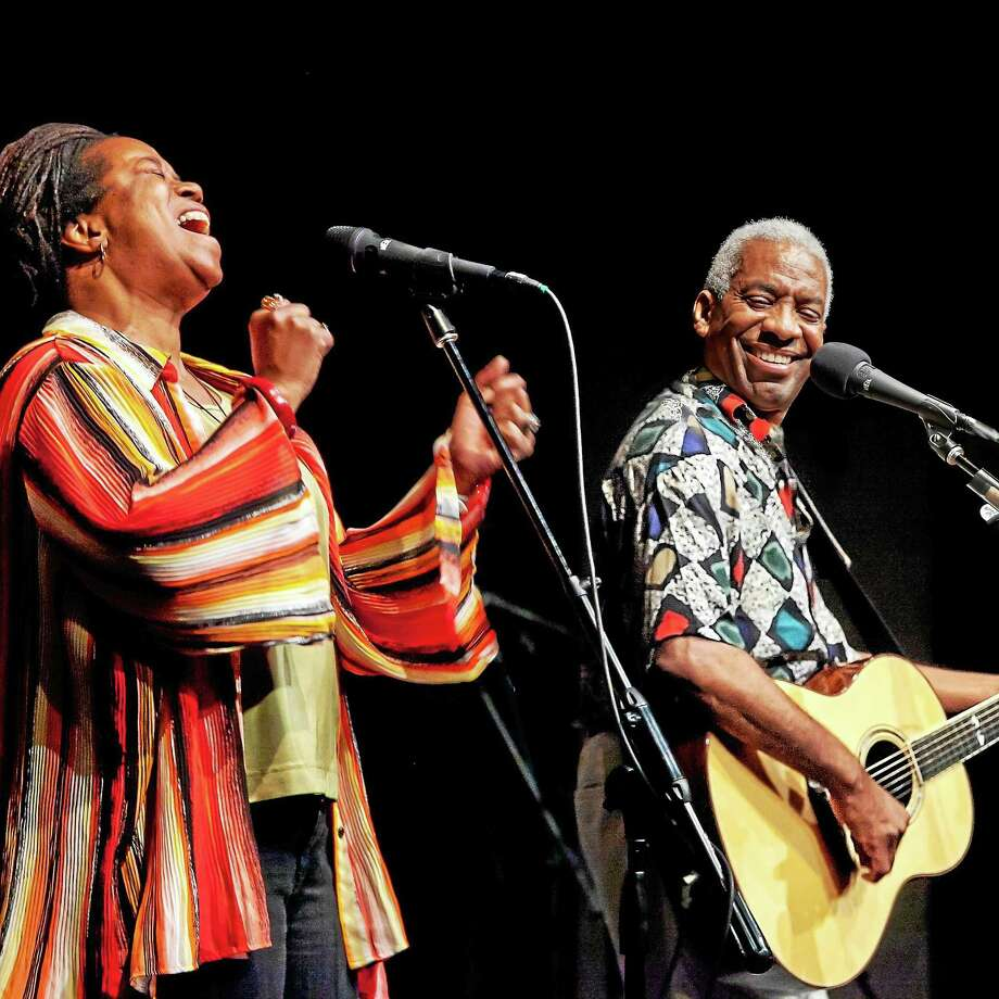 Kim and Reggie Harris combine traditional African-American spirituals and freedom songs with original folk. Photo: Contributed   / ? 2012 R.L. Geyer