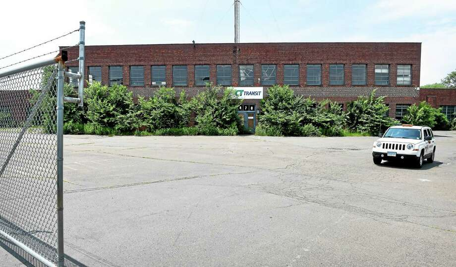 The former CT Transit bus depot in New Haven. Photo: Arnold Gold — New Haven Register
