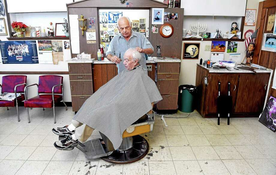 new haven barber still cutting hair after 60 years in the family business new haven register. Black Bedroom Furniture Sets. Home Design Ideas