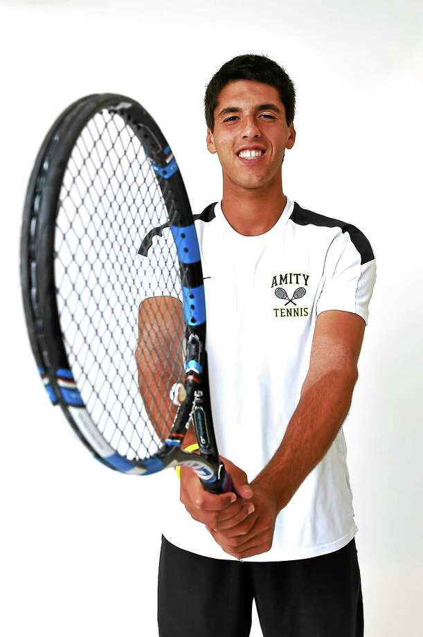 Amity's Jason Seidman had a 3-1 record in singles matches at the USTA's National Team Championships. Photo: Peter Hvizdak — Register File Photo   / ©2015 Peter Hvizdak