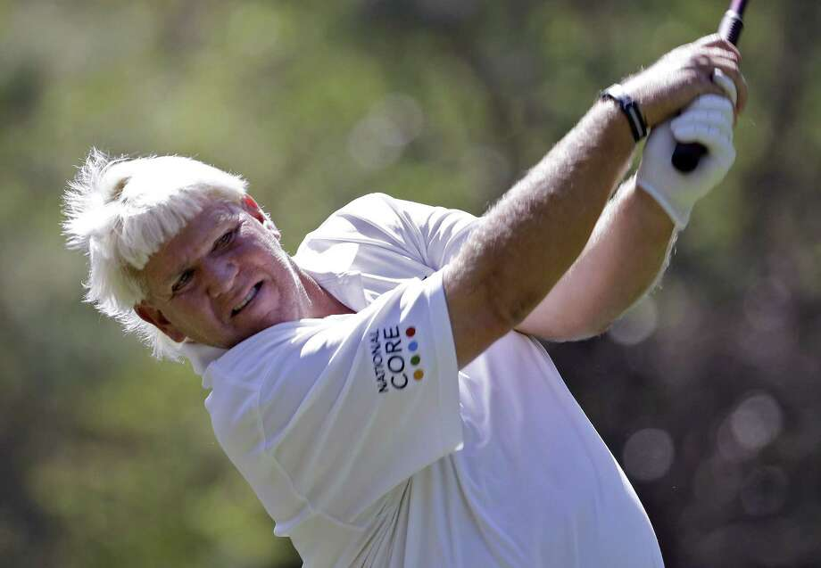 John Daly was out of the hospital and playing golf again Sunday less than 24 hours after he was stricken on the course with what he says was a collapsed lung. Photo: The Associated Press File Photo   / AP