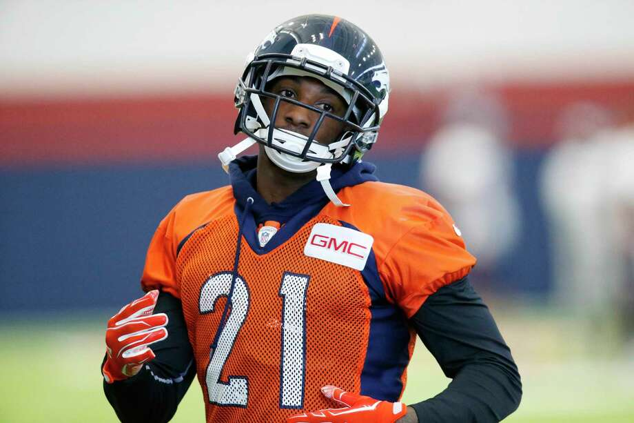 Cornerback Aqib Talib and the Broncos defense will try to hand the Patriots their first loss of the season today in Denver. Photo: The Associated Press File Photo   / AP