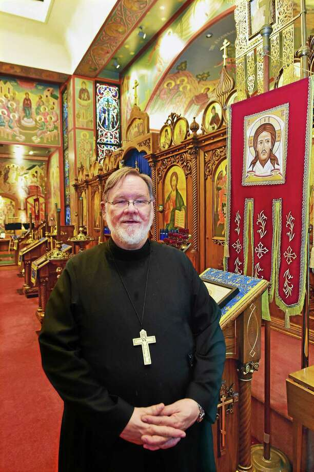 Rev. Michael Westerberg, the pastor of the Holy Transfiguration Orthodox Church in New Haven, will celebrate with clergy and parishoners the 100th anniversary of the church on Sept. 27. Westerberg will also celebrate his 40th year of his ordination and 35 years as pastor at Holy Transfiguration Orthodox Church. Photo: Catherine Avalone — New Haven Register    / New Haven RegisterThe Middletown Press