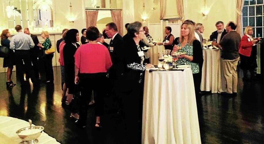 Area UConn alumni gather at New Haven Lawn Club. Photo: Photo Courtesy Of UConn Foundation