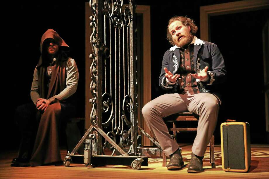 """Andy Grotelueschen, right, in a scene from Fiasco Theatre Company's """"Measure for Measure."""" Photo: Long Wharf Theatre   / ?2014, Joan Marcus"""
