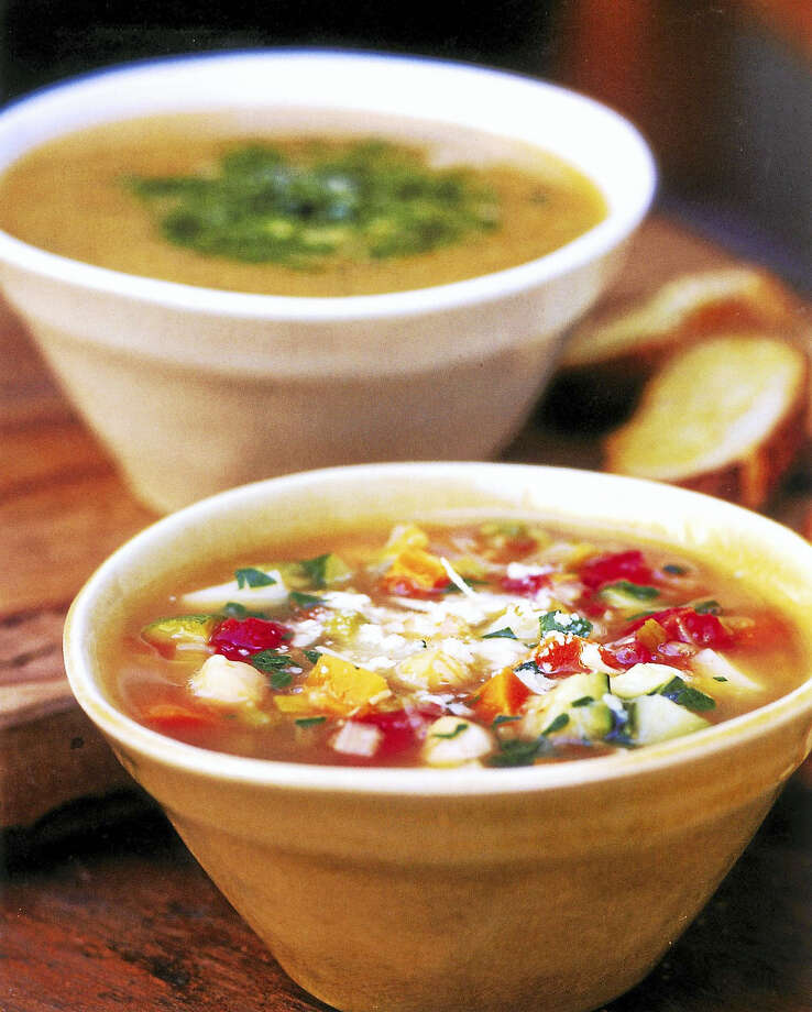 This Vegetable Soup can be made with the veggies whole or fully pureed. Photo: Diane Rossen Worthington - Tribune Content Agency