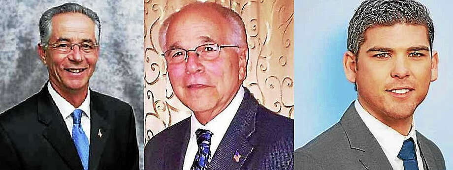 From left, East Haven mayoral candidates Republican Joseph Maturo, Independent Sal Maltese and Democrat Michael Speer. Photo: Journal Register Co.