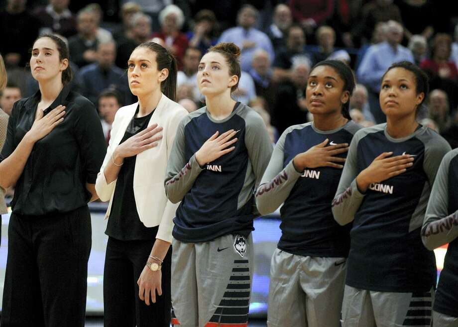 The UConn women's basketball team remained No. 1 in the latest AP women's basketball poll. Photo: The Associated Press File Photo   / FR153656 AP